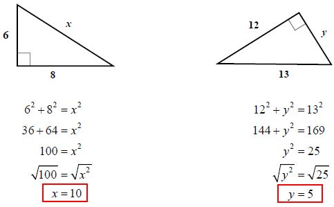 Pythagorean Theorem Examples