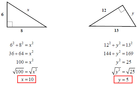 Pythagorean Theorem (solutions, examples, answers, worksheets, videos)