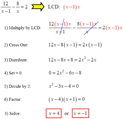 Multiply by LCD to Solve Rational Equation